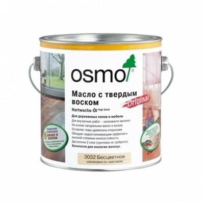 OSMO 3032 Бесцветное Шелковисто-матовое 2,5л., Масло с твердым воском, серия Hartwachs-Öl Original