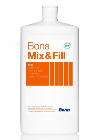 Шпаклевка Bona Mix & Fill, на водной основе, 1л.