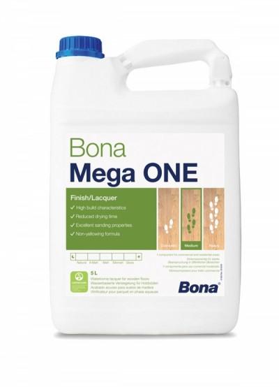 Лак Bona Mega One, 1К, полиуретановый, 5л.